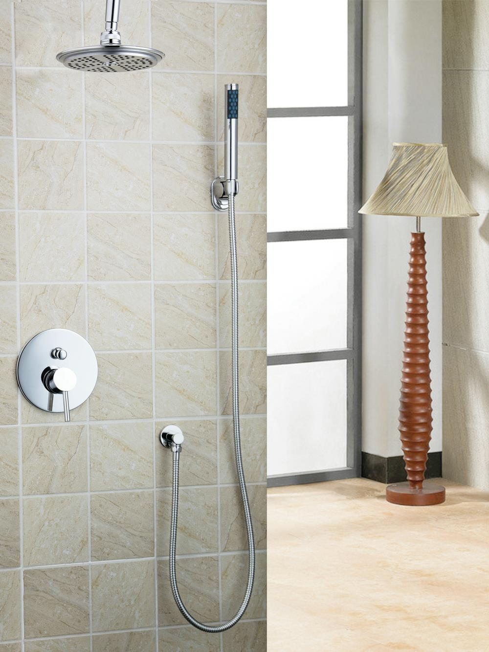 Bathroom rain showers - Hello Modern Bathroom Rain Shower Banho De Chuveiro Set 8 Wall Mount Faucet Tap Shower