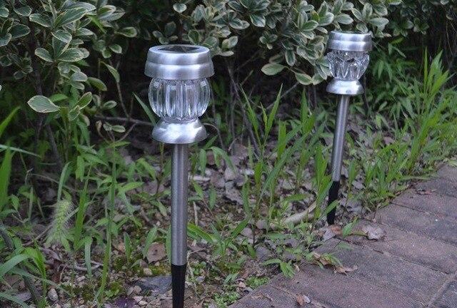 Tuinverlichting Zonne Energie.Us 36 9 Viosliteled 4 Stks Set Outdoor Zonne Energie Gazon Licht Lamp Rvs Led Licht Waterdicht Tuinverlichting Zonne Straat Licht In Viosliteled 4