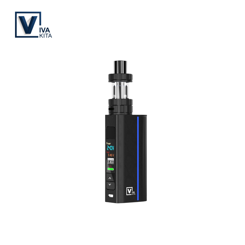 Vaporizer Move Grand Tc 80W Kit e liquid 3.0ml Atomizer 0.91 inches Color Screen for external 18650 battery 0.2ohm/0.5ohm Coils