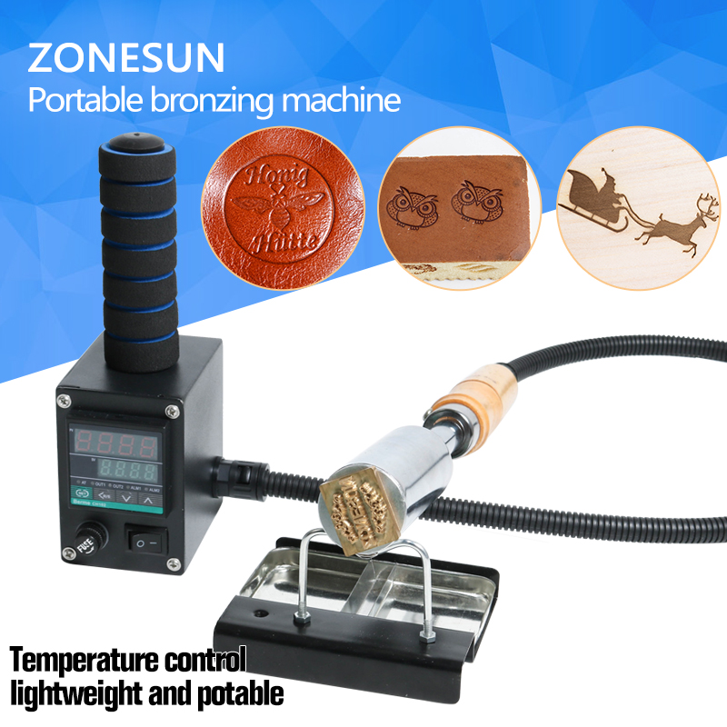 ZONESUN Handheld leather wood paper embossing tool hot stamping machine embossing for wedding cake logo embosser branding iron internet as a potential tool for destination branding