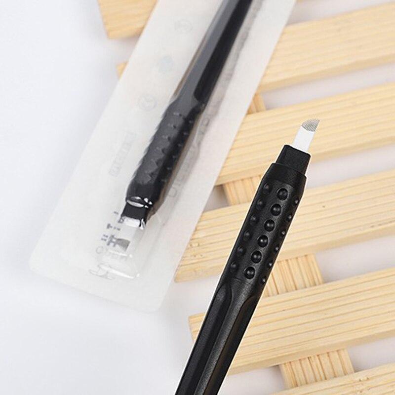 2 PCS Microblading Pen Disposable Permanent Makeup Gun Pen With Needles 14/15 Pin 18U Microblading Eyebrow Tattoo Pen To Lamina