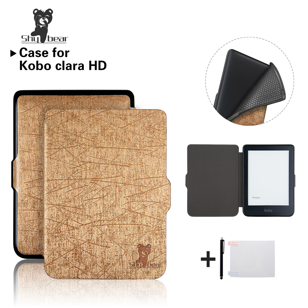 все цены на New Case for Kobo Clara HD 6'' Ereader Solid color TPU cover Case +free Gift онлайн