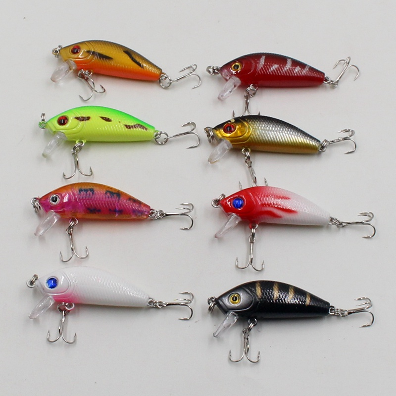 8Pcs/lot 3.8g 5cm Carp Artificial Bait Fishing Lures Wobbler Fish Minnow Bass Lure Crankbait Trout Tackle Hook Tool tsurinoya fishing lure minnow hard bait swimbait mini fish lures crankbait fishing tackle with 2 hook 42mm 3d eyes 10 colors set