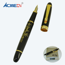 ACMECN High Quality 46g Heavy Pen MB style Office Writing Stationery 0.5mm Nib Black Liquid ink Fountain for Mens Gifts