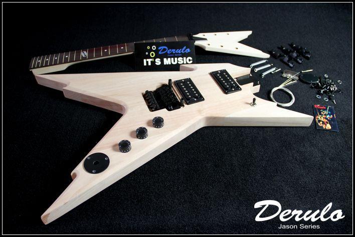 Kit guitare électrique bricolage corps en acajou massif manche en érable MX-020 non fini