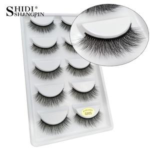 Image 1 - 50 pairs Wholesale Eyelashes Natural Mink Eyelashes False Eye Lashes Mink Lashes Fake Eyelash Extensions maquiagem faux cils
