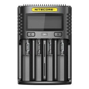 Image 5 - 100% oryginalny NITECOR UM4 UM2 LCD USB QC inteligentna ładowarka do akumulatora Li ion IMR INR ICR LiFePO4 18650 14500 26650 AA 3.7V 1.2V 1.5V