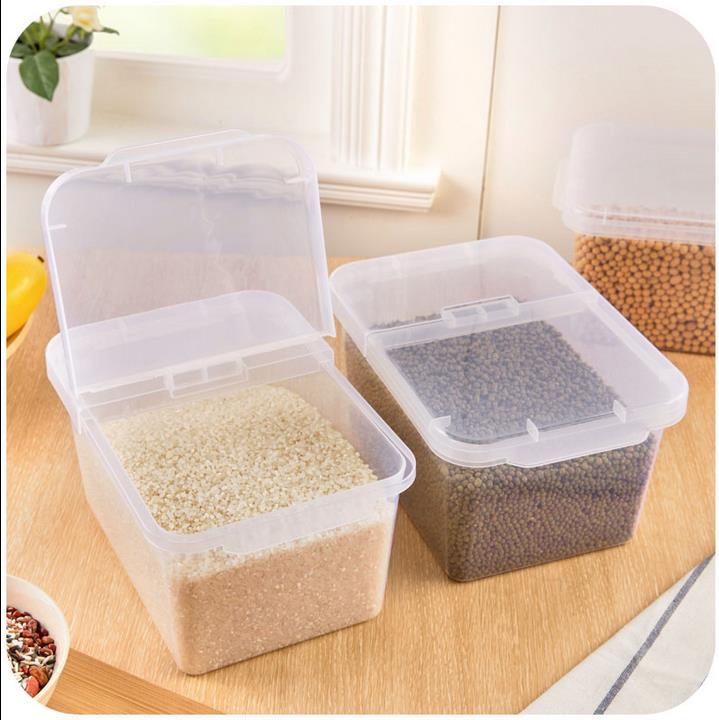HIPSTEEN 10kg Plastic Kitchen Sealed Box Large Capacity Food Storage
