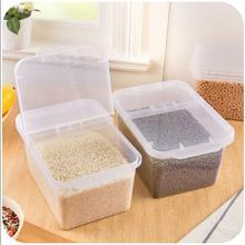 Guaranteed 100% New plastic storage box home large 4L capacity organizer for toy medicine rice food container in clear pink