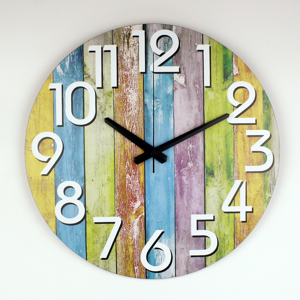 Wall Decor Clocks Modern : Modern home decoration watch wall warranty years silent