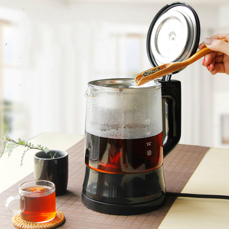 Electric kettle Black tea cooked pu 'er device automatic electric steam boiling water glass teapot cooking Overheat Protection chinese yunnan puer 60g old ripe pu erh tea loose shu pu er tea green orangic food pu erh tea blood pressure slimming tea