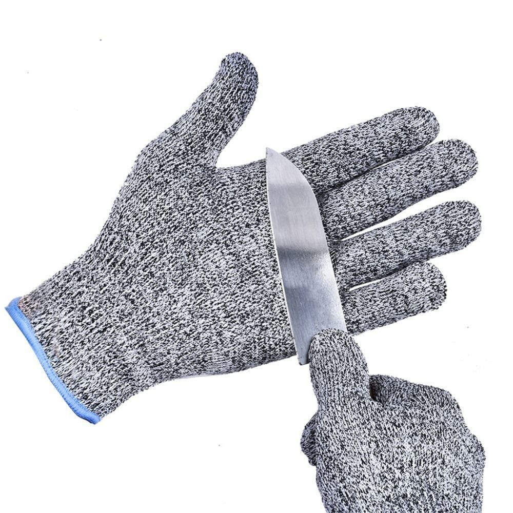 6 Pairs Factory Supply Hand Protection Gray Anti Cut -2986