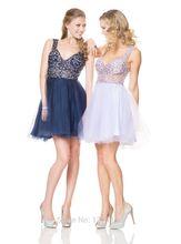 Kostenlose Angebot Versand 2015 Nach Maß Neue Mode Sexy Kristall Tüll Cocktail Party Kleider Brautkleid Vestido De Festa