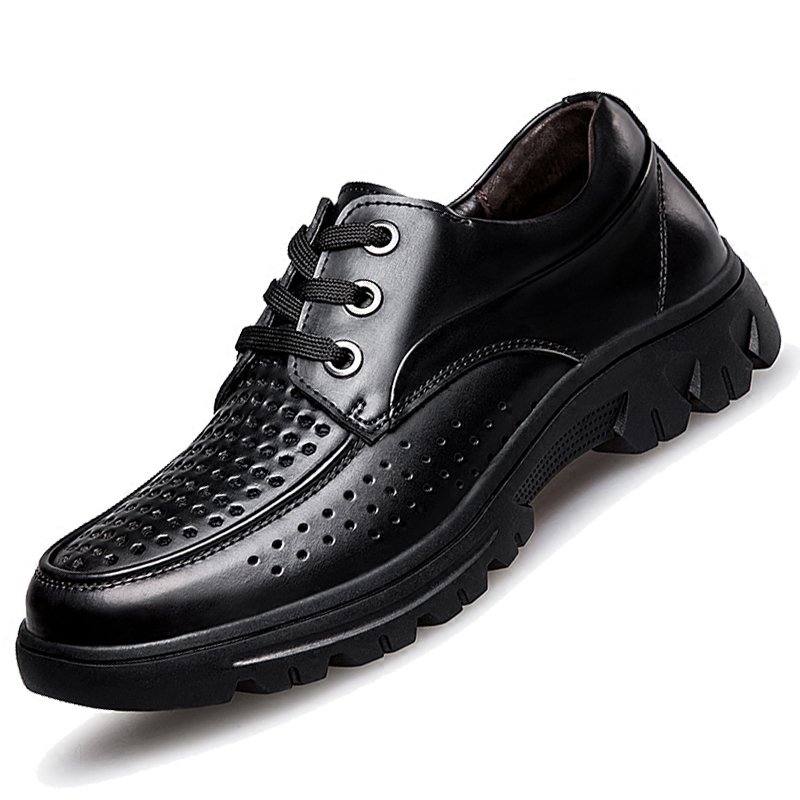 Big 37-50 Size Men Shoes Black Leather Flats Soft Business Man Shoe Slip on Loafers Formal Shoes Men Oxford Dress Shoes Brown