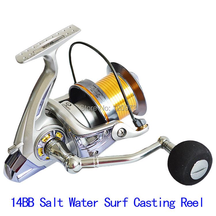 PLM8000--13+1BB 4.1:1 Long Shot Fishing Reel Surf Casting Reel Saltwater Spinning Reel Long Cast Spool Distant Wheel