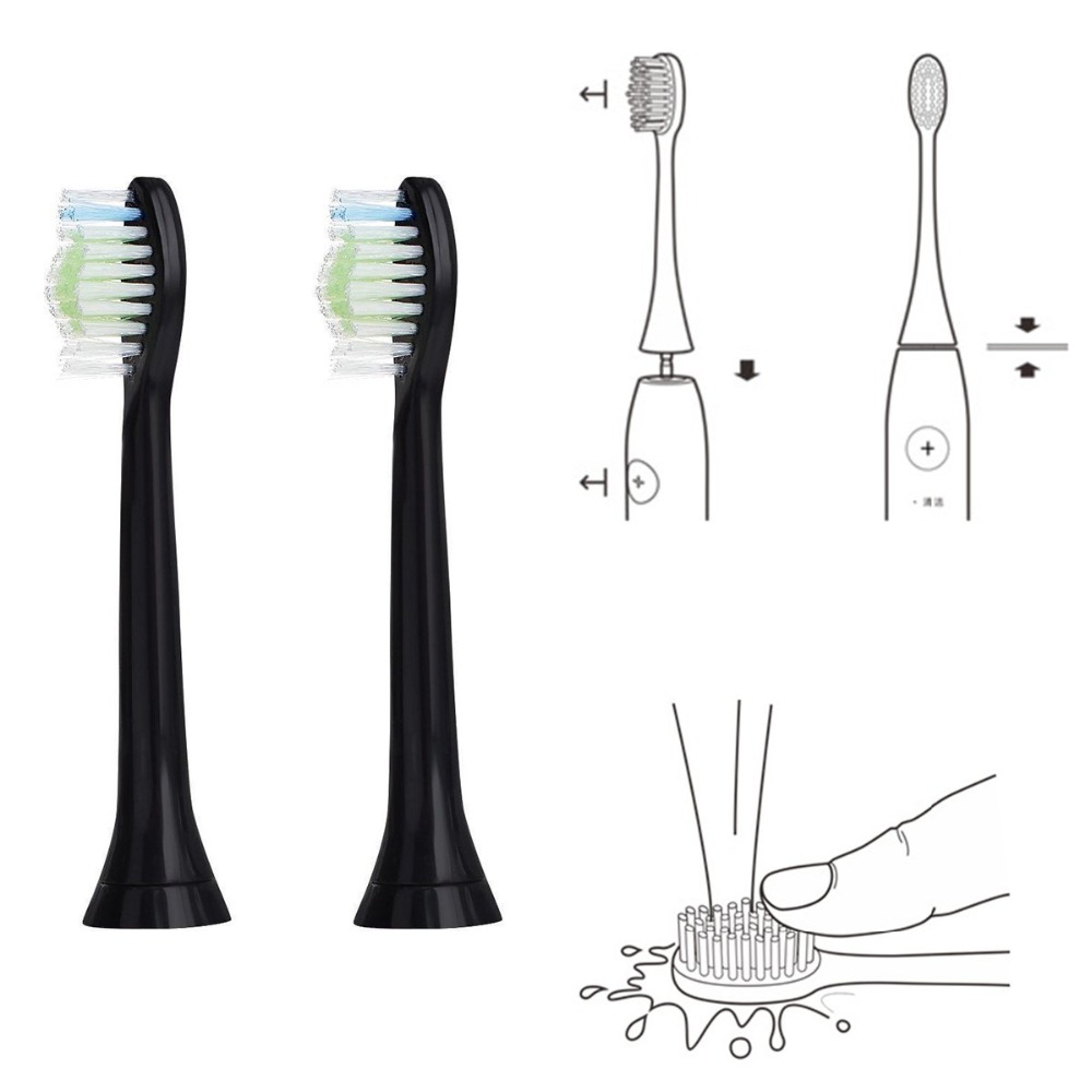32PCS Replacement Toothbrush Heads for Philips Sonicare DiamondClean BLACK Toothbrush Heads for Philips HX6064/33 Phillips image