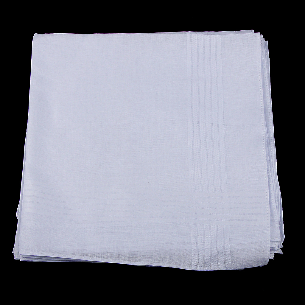 Pack Of 12 Cotton Handkerchiefs Pocket Handkerchiefs Men Women Business Hanky Elegant Square Handkerchief For Weddings Parties