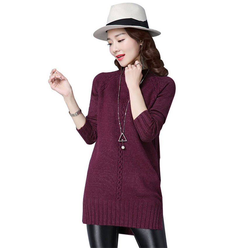 Turtleneck Sweater Dress Autumn Winter Women Warm Thick Split Knitted Dresses Female Long Sleeve Mini Pullovers Vestidos AB417 women turtleneck front pocket sweater dress