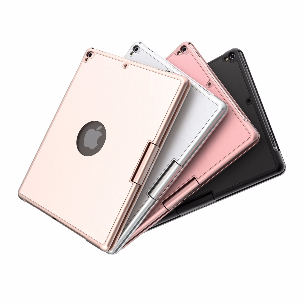 360 Degree Rotable 7 Colors Backlit Bluetooth Keyboard Smart PC Case Cover For Apple Ipad 9.7 2017 Ipad Air 1 2 5 6 Pro 9.7