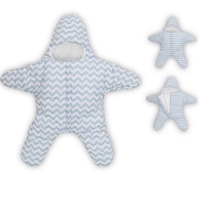 2017 Новая Звезда Спальный Мешок Зимние Коляски Кровать Пеленальный Одеяло Wrap симпатичные Постельных Принадлежностей Новорожденных Детей спальный мешок