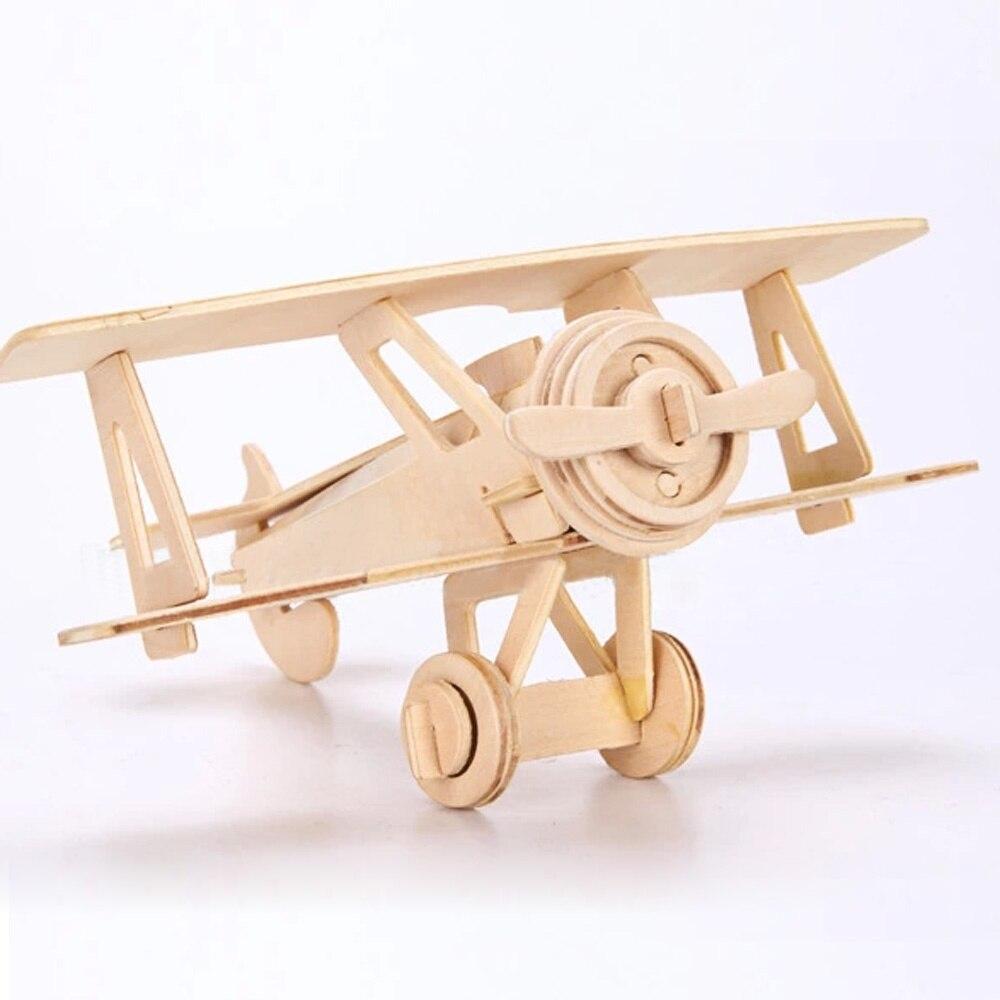 New 3d Wooden Puzzle Jigsaw World War Ii Aircraft Model
