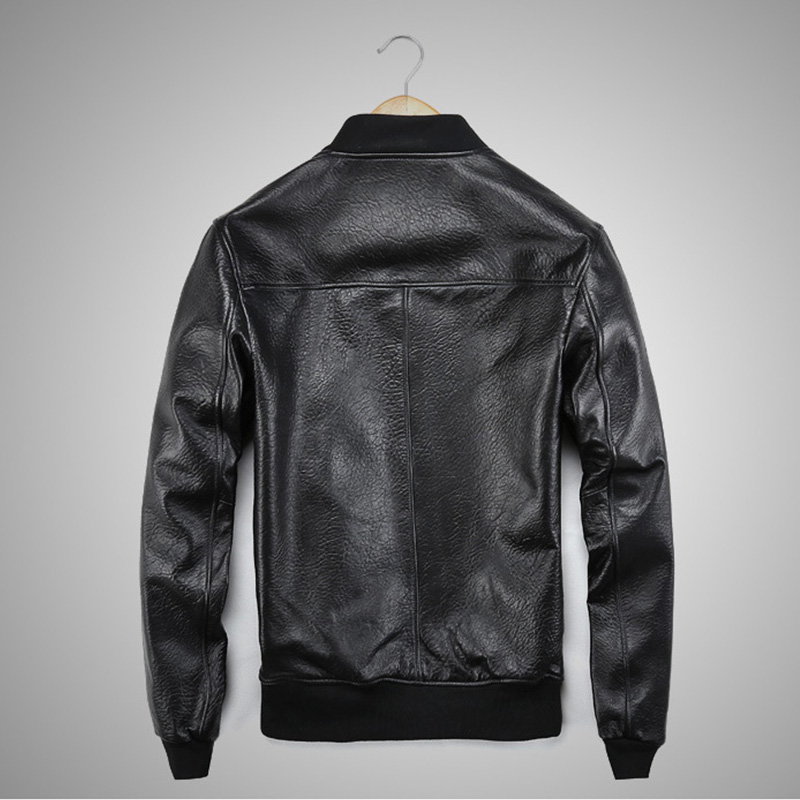 Men's sheepskin Coat Winter Genuine Leather Jacket For Men Motorcycle Bomber Jacket Natural Real Leather Male Aviator 2019