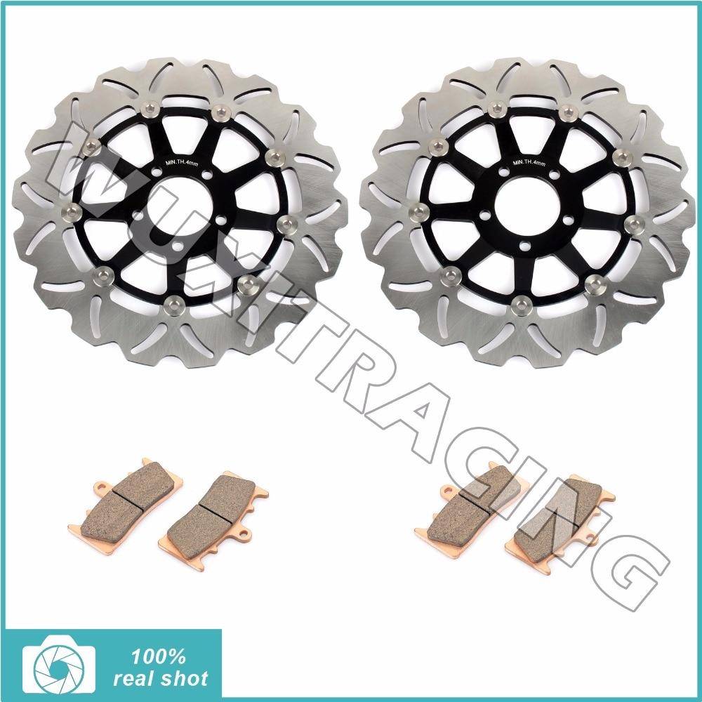 310 мм передние тормозные диски Роторы подушечки для KAWASAI ZX9R ZX9 р на ZX-9r с 00 01 ZR1100 ZRX1100 ZRX1200 ZRX 1100 1200 р с 99-06 02 03 04