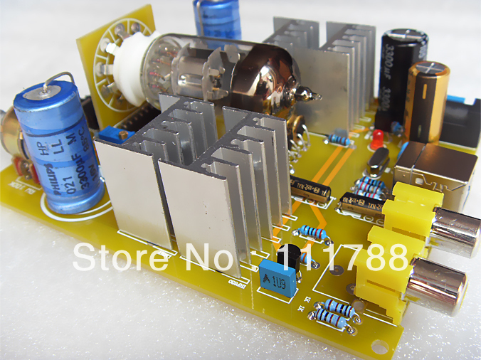 AMPLIFIER BOARD Assembled 6N11 Tube Headphone Amp with USB Decoder--ARK170 appj pa1502a tube headphone amplifier