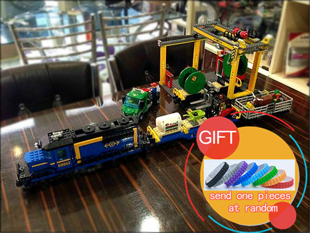 02008 959PCS City Explorers Cargo Train DIY Building Blocks Bricks educational Toys for children Christmas Gifts 60052 lepin hot sale 1000g dynamic amazing diy educational toys no mess indoor magic play sand children toys mars space sand