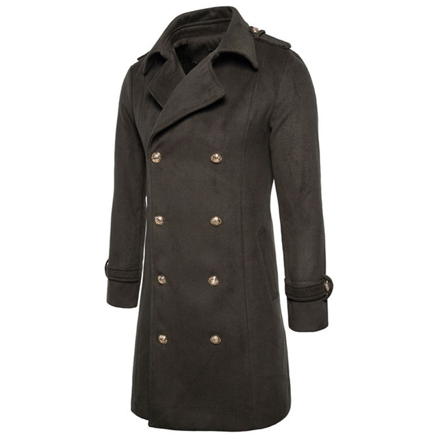 Winter Dress Coat Double...