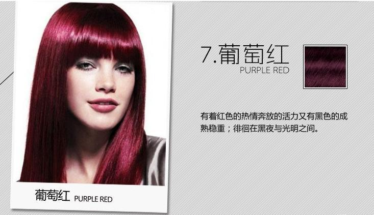 Plant hair dyes Pure natural herbs Color hair dyes without ammonia dye hair cream purple red 25ml