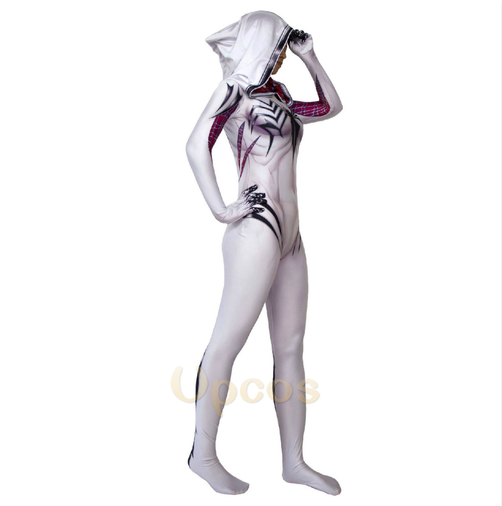 Anti-Gwenom kostym 3D-tryck Gwen Stacy Venom Gwen Kostym Vit Anti - Maskeradkläder och utklädnad - Foto 3