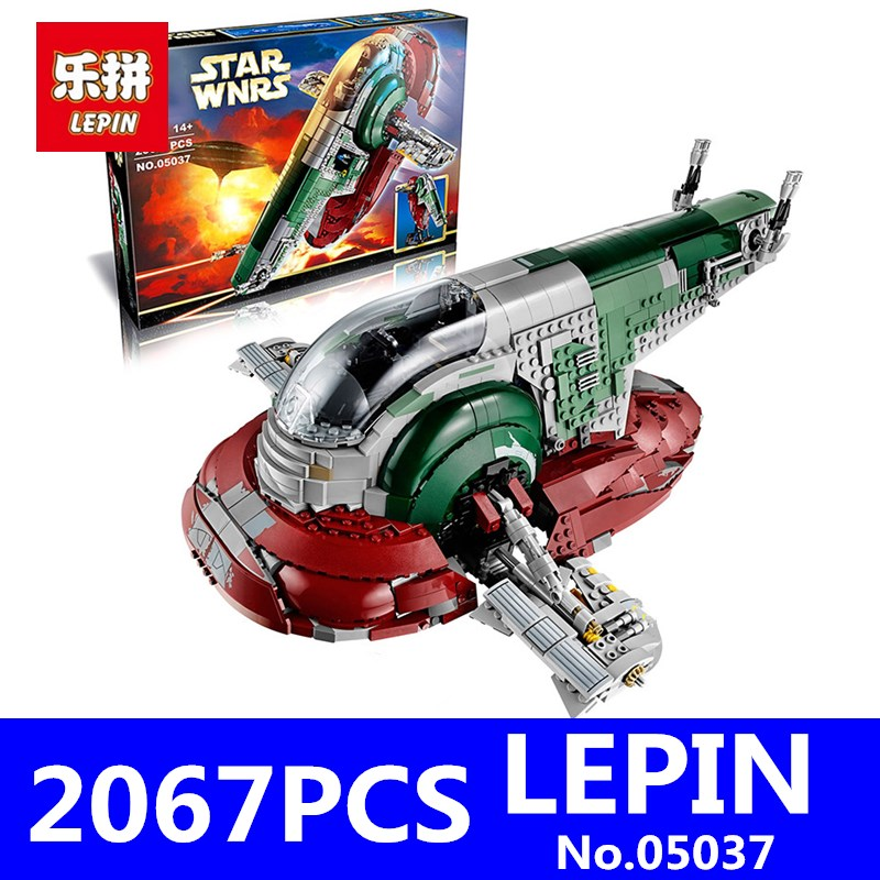 Star Wars LEPIN 05037 2067pcs Slave 1 UCS Model Building Kits Blocks Bricks Compatible Educational Children Toys Gift With 75060 lepin 22001 pirate ship imperial warships model building block briks toys gift 1717pcs compatible legoed 10210