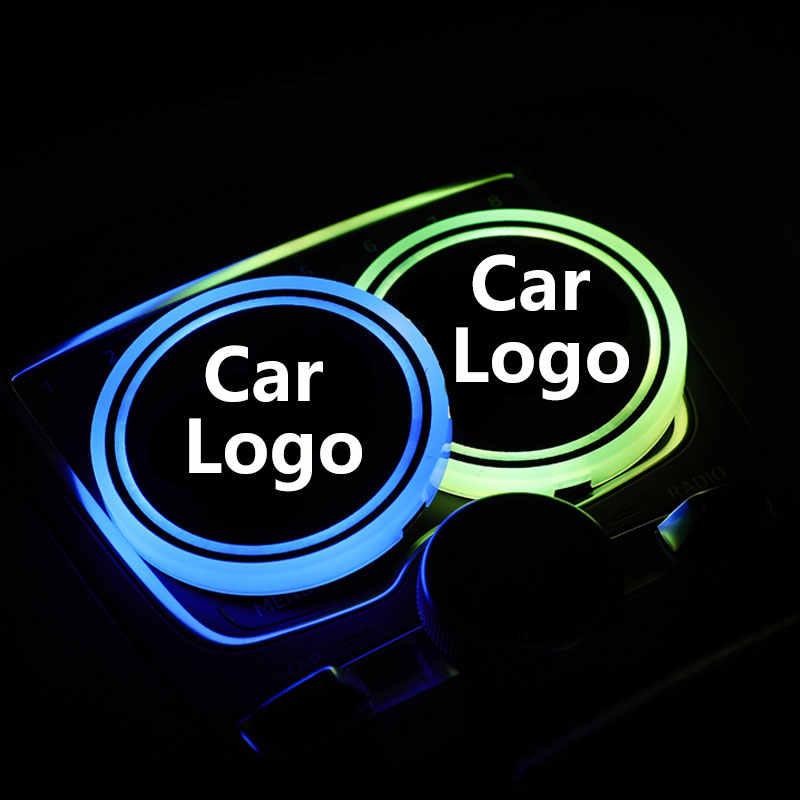 2X شعار سيارة مزود بإضاءة ليد كوب ضوء لشركة فيات بونتو 500 ستيلو برافو دوكاتو دوبلو فريمونت باندا x Abarth مصباح شعار كوستر اكسسوارات