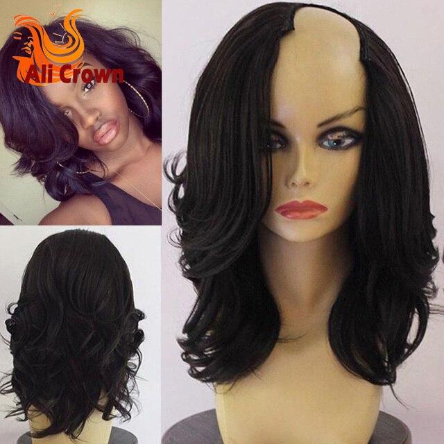 10a Malaysian Virgin Hair U Part Human Hair Wigs Sale Wavy Bob U Part Wigs  Human Hair Bob Style Short Hair Wigs For Black Women 965ae71ce426