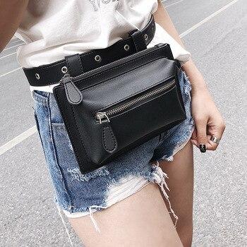 Engyee Cổ Điển Bum Bag Điện Thoại Eo Bag Phụ Nữ Da Designer Gói thắt lưng Màu Đen Fanny Gói Làm Việc Belt Wallet Tiền Du Lịch Pouch