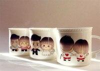 Lover Carton Color Changing Cup Ceramic Cup Coffee Mug Heat Sensitive Temperature Changing Magic Mugs Gift