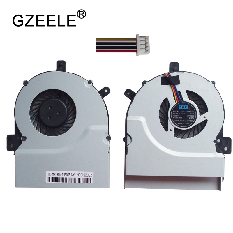 GZEELE new Laptop cpu cooling fan for ASUS K55 A55 A55V r500v X55 x55v x55vd K55VM K55V K55VD R500V A55V MF75090V1-C170-S99 FAN laptop cooling fan for asus pu500ca fan