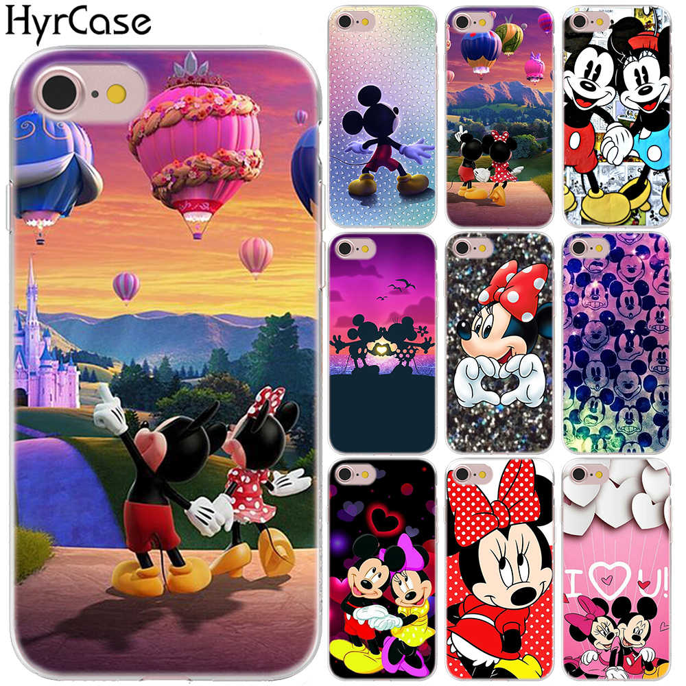 Cute Mickey Minnie Cover Case For iPhone 7 8 X XS XR XS MAX 5 5S SE 6S 6 S Soft Silicon Cartoon Phone TPU Cases