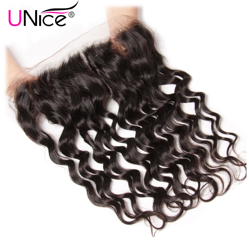 Unice Hair Peruvian Natural Wave Lace Frontal Natural Color 13 4 Ear To Ear Pre Plucked