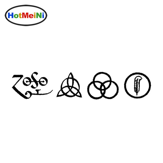 Hotmeini 255cm all 4 led zeppelin runes decal vinyl window car sticker truck jdm
