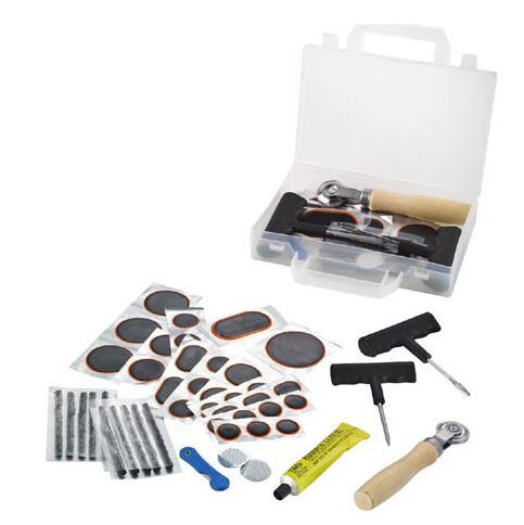 47 pcs Car Bike Auto tubeless Tire Repair Kit Tyre Puncture Plug Repair Tool Puncture Tubeless Tire Plug Repair glue Tool set