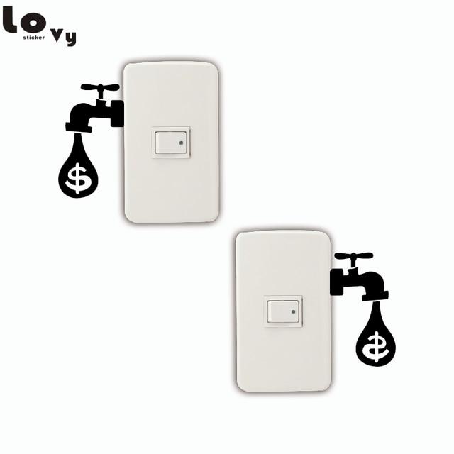 2 Stücke Kreative Saving Tipps Drip Dollar Sparen Strom Schalter ...