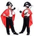 Новые пираты карибского моря Хэллоуин маскарад косплей дети костюм Капитан Джек Мальчики Одежда