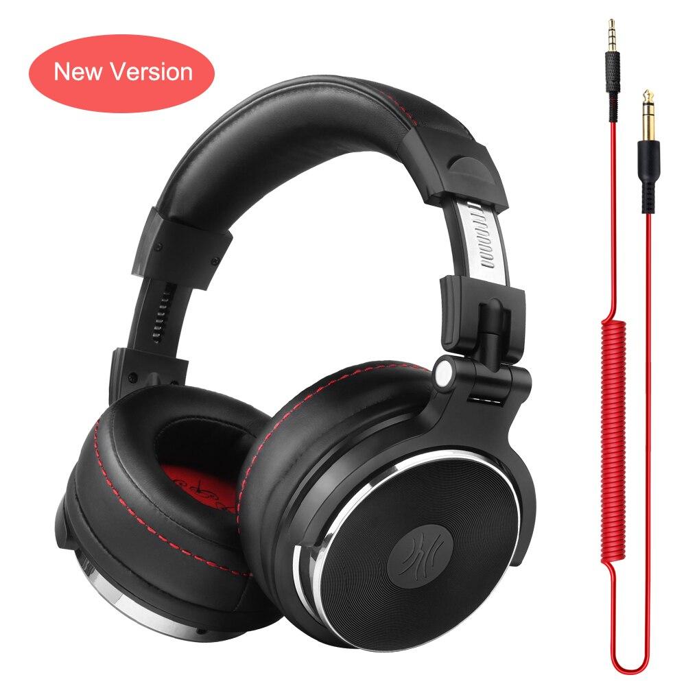 Oneodio Wired Auriculares DJ Auriculares con Micrófono de Estudio Profesional Over Ear Auriculares Estéreo DJ Monitor de Auriculares de Estudio