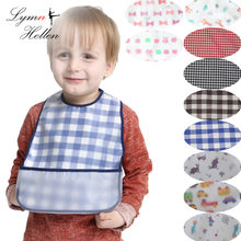 hot baby apron eat food pocket vest anti-clothing waterproof bib cloth meal draw clothing apron cover wear accessories Kids feed(China)