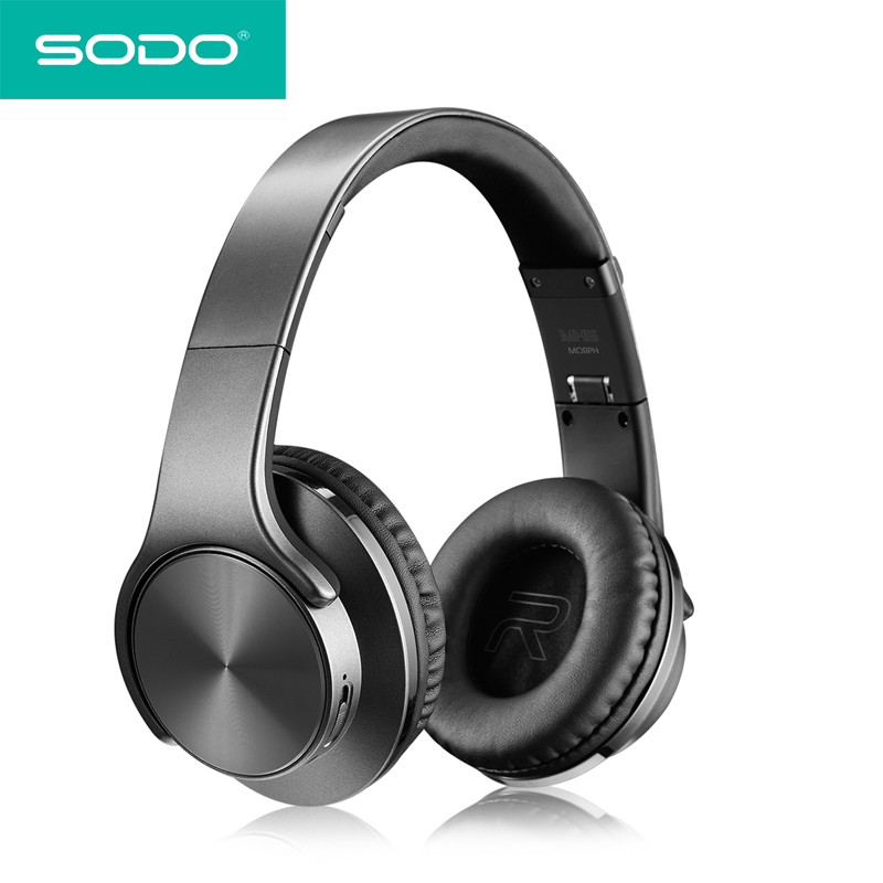 SODO MH5 Bluetooth Headphone Twist-out  Speaker Bluetooth 4.2 2 in 1 Wireless Sports Headset Free Shipping Aux-in Hands-free flashing lights twist out speaker bluetooth headphone with fm radio aux tf card mp3 sports magic headband wireless headset