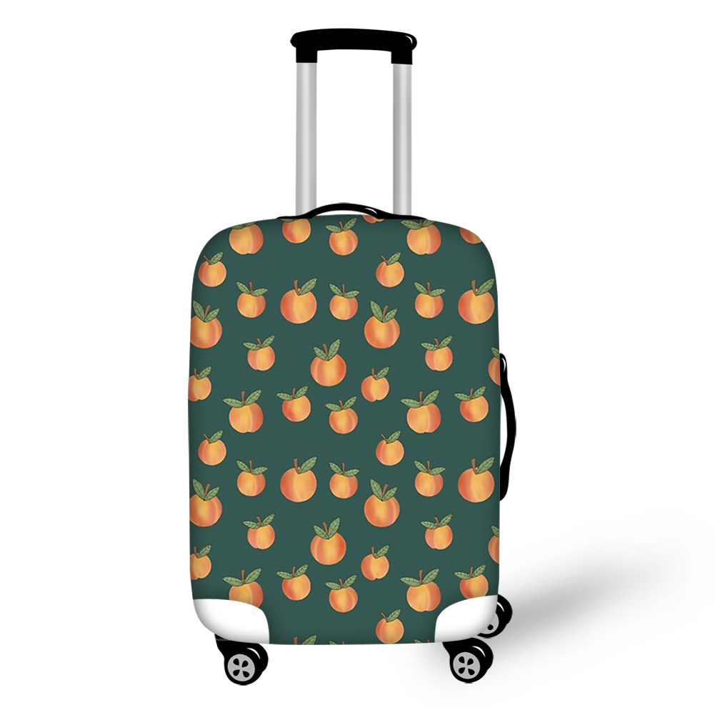 Thikin Summer Peach Travel Luggage Cover for Girls Cartoon School Trunk Suitcase Protective Cover Travel Bag Protector Jacket
