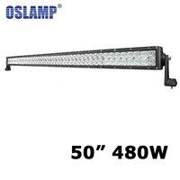 Oslamp 5D 480W 50 inch LED Light Bar Fit 4WD 4x4 Pick up Truck SUV UTV LED Work Light Bar DC 12V 24V Vehicle
