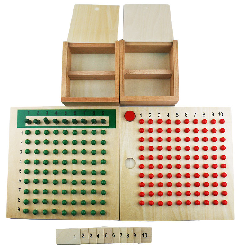 Montessori en bois jouets Multiplication et Division conseil Montessori mathématiques matériaux éducatifs jouets d'apprentissage pour enfants E1864H
